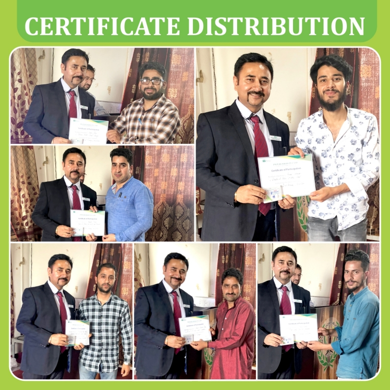 certificate distribution for srinager 2019